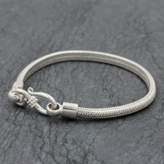 Bracelet snake new 1/2 rond 2,5mm