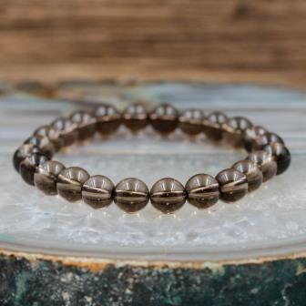 Bracelet pierre Quartz Fumé