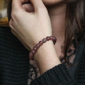 Bracelet pierre Quartz strawberry