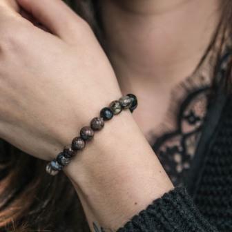 Bracelet pierre Opale Bleue