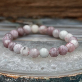 Bracelet pierre jade rubis