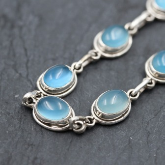 Bracelet pierre calcédoine