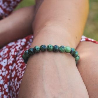 Bracelet pierre rubis zoïzite